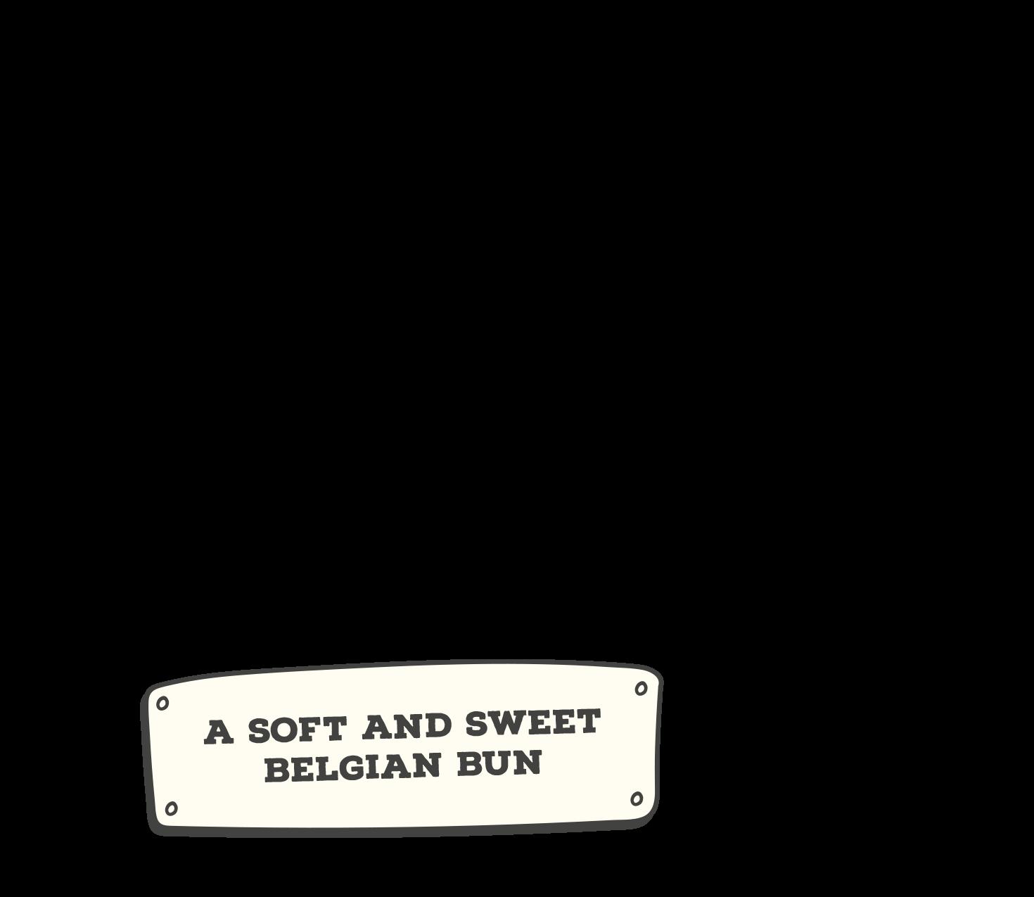 A soft and sweet Belgian Bun
